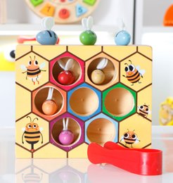 Wholesale early education - Children's early education toys over 3 years old baby smart clip BEAD CLIP bees to exercise flexible fingers toys