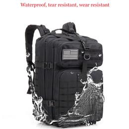 engranaje táctico mochila Rebajas Equipo táctico 43LNylon Paquete de asalto táctico Mochila impermeable Pequeña mochila para caminatas al aire libre Caza que acampa A-15