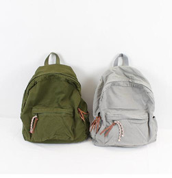 Zaini in tela di canapa online-canvas backpack donna lady casua simple designl style 3 borsa da scuola in tela tinta unita 38x41x16cm