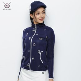 cf7867f7fdc BG New Hot Selling Women Quick Dry Golf Polo Shirt Summer Long Sleeved  Anti-Pilling T- shirt Ladies Sports Clothes With Zipper