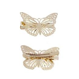 2Piezas Horquillas Mariposa para el Cabello Chino Clips de Horquilla