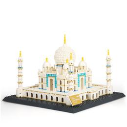 Wholesale Large Toy Bricks - 1505pcs Wange World Large Architecture Model Taj Mahal Building Blocks Educational Bricks Children Toys Kids brinquedos 5211
