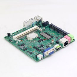 Wholesale coaxial socket - Socket P Motherboard Intel Celeron 3205U Mini PC Computer Motherboard 1 Ethernet Ports 1*VGA