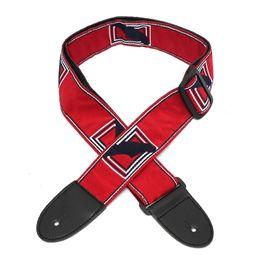 Canada Sangle de guitare réglable en nylon pour ceinture de guitare avec extrémités en cuir pour pièces de guitare acoustique électrique, accessoires 3 couleurs Offre