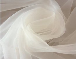 tail veil Promo Codes - ivory 150cm width 4meter lot soft organza sheer fabric wedding bridal dress, ball gown,veil Tail, shawl,backdrop decoration,