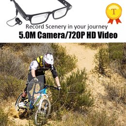 Wholesale Glass Eye Camera - HD camera bluetooth Portable Video Recording Camera android smart glasses eyes Riding Glass eyeglass For iPhone Android Phone