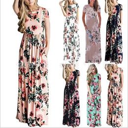 Abiti Donna Bohemia Floral Dress Summer Maxi Dress Stampa Abiti casual  lunghi Moda Sexy Slim aderente Beach Party Dress Apparel Hot B4013 fa6bbeab553