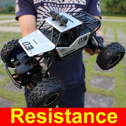 Wholesale 4wd Rc Trucks - 1:16 4WD RC Cars Alloy Speed 2.4G Radio Control RC Cars Toys Buggy 2017 High speed Trucks Off-Road Trucks Toys for Children Gift