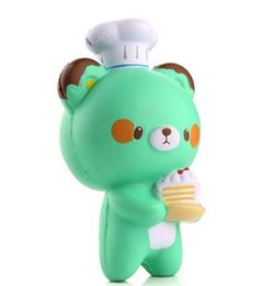 Wholesale free big cook - Kawaii Squishies Green Bear Squishy Cook Spicy Cute Toy Kids Relax Decoration Squeeze Slow Rising Animal Free Shipping