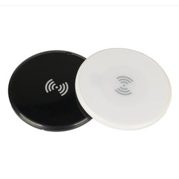 Cargador qi delgado online-Qi Slim cargador inalámbrico de 6 mm forma redonda ultrafino cargadores universales de alta calidad negro blanco envío gratuito de DHL