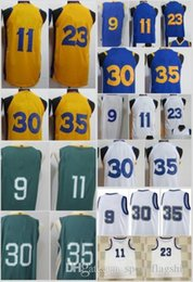 Wholesale Draymond Green - 2018 City Edition 35 Kevin Durant Jersey Jerseys 9 Andre Iguodala 11 Klay Thompson 23 Draymond Green Yellow Blue White Stitched College