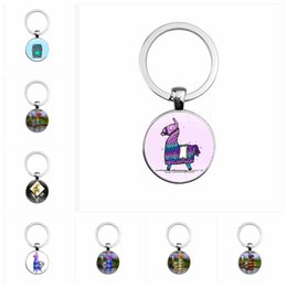 Wholesale game sets - 22 styles Fortnite necklace toy props hot and classic gift set Fortnite keychain Cool metal time gem pendant Game Animation Accessories