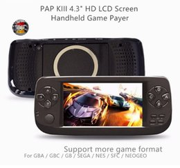 Wholesale Kids Radio Player - JOEAIS 4.3 Inch HD Game Console 64 Bit Portable Handheld Game Players For GBC CP1 NEO GEO Format 500+ Inner Game Gift for Kids
