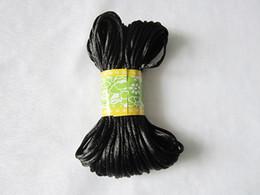flaches leder für schmuck großhandel Rabatt DIY Halskette Schnur und Verschluss Black Satin String für Silikon Kinderkrankheiten Halskette Schmuck Safe Plastic Breakaway Verschlüsse
