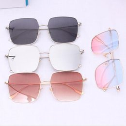Женский большой ящик онлайн-fashion glasses female trend box gold silk sunglasses big frame round face polarized light four square without makeup sunglasses