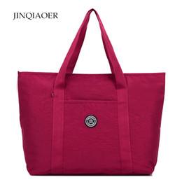 Wholesale Cheap Tote Bags For Women - Large Capacity Shopper Bag for Cheap Women Shoulder Bags Waterproof Nylon Travel Beach Bags Tote Bag Handbags bolsa feminina