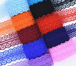 Wholesale lace trim for sewing - DIY Embroidered Net Cord high quality 10 yards Lace Ribbon Tape Width 28MM Trim Fabric For Sewing Decoration african lace fabric