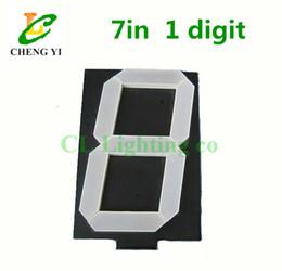 "Wholesale Digital Segment - 7"" 7in Digital Tube 10.8V Common Anode 7 inches 7 Segment 1 Bit LED digital Display common cathode inch seven Segment display"