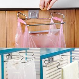 Wholesale Metal Bowl Stand - Stainless Steel Kitchen Cupboard Drawer Door Waste Bin Stand Scrap Trap Bowl Dustbin Hanging Rack