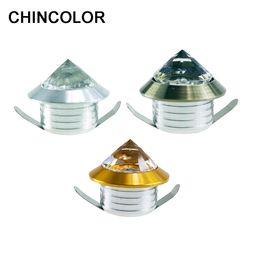 Argentina CHINCOLOR Mini Spot Light Crystal Diamond Cabinet Downlights LED Lámpara de Techo 110 V 220 V Exhibición de la joyería Decoración de la habitación blanco cálido R Suministro