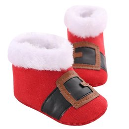 Wholesale 18 snow - Christmas Baby Toddler brand new Infant Snow Boots For 0~18 Month Baby Soft Sole Prewalker comfortable Crib Shoes Dropshipping