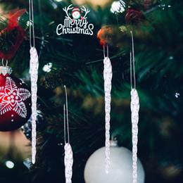 2019 vente en gros de crayons noirs 1 set de 4pcs Xmas verre clair ornements décoration d'arbre de Noël 5 .5 pouces
