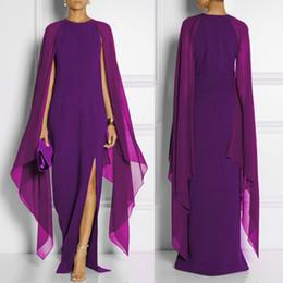 Wholesale ladies long robes - Summer Maxi Dress Women Fashion chiffon dress Sleeveless Side Split Sexy Long Dress Ladies Solid Leisure Plus Size Elegant Vestidos Hot Robe