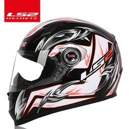 Wholesale Pink Full Face Helmets - 100% Genuine LS2 FF358 motorcycle helmet full face LS2 helmet man woman racing moto helmets Casque Casco Moto ECE Certification