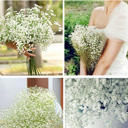 Wholesale White Gypsophila Flowers - Wholesale-2016 New 10pcs Lot Beautiful Gypsophila Artificial Fake Silk Flowers Baby Breath Plant Home Wedding Decorations
