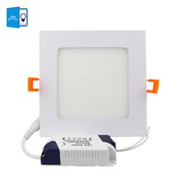 Panel de rejilla de luz online-Ultrafino 3W 4W 6W 9W 12W 15W 18W Luz de panel cuadrado Aluminio LED Panel Light LED Techo empotrado Rejilla Downlight