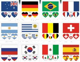 2020 tatuaggio del mondo Moda impermeabile sudore bandiera nazionale facciale corpo Paster sano sicuro Russia World Cup tatuaggio adesivi 0 25rc X tatuaggio del mondo economici