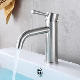 Wholesale Brushed Nickel Vessel Sinks - Chrome Bathroom Vessel Sink Faucet Single Handle One Hole Mixer Tap Hot And Cold FAUCET F-9007