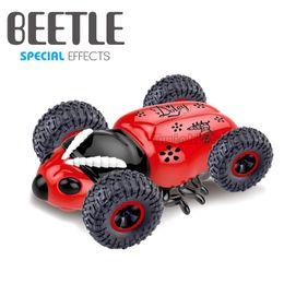 2019 rc stunt giocattolo auto In Stock Giocattoli per bambini Elettrico Beetle Telecomando Auto Ricaricabile Tumble Stunt Car robot giocattolo RC Animali Ragazzi giocattolo regalo rc stunt giocattolo auto economici