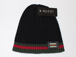 Wholesale knitted yarn - New Winter Beanies Wool Hats for Men Warm Knitted Caps Beanies Ski Cap
