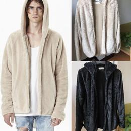 f7c2801de36c3 2019 ropa estilo urbano Sherpa con capucha para hombre Sherpa Kanye West  Hip-Hop Fleece