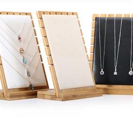 2019 stands de fábrica por atacado Designer de jewrrt display stand de bambu simples para colar de exibição de jóias por atacado de moda quente livre de transporte