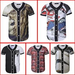 Wholesale Polka Dot Jersey - New Arrivals Men women 3d T-shirt Unisex Summer Tops Print Flowers Lovely Button Shirts Hip Hop Baseball Jersey Tshirt