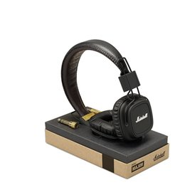 Wholesale brand monitoring - Marshall Major Headphones With Mic Deep Bass DJ Hi-Fi Headphone HiFi Headset Professional DJ Monitor Brand Headphone