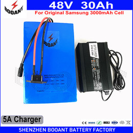 Wholesale 48v battery li ion - BOOANT E-Bike Li-ion Battery 48V 30Ah 2400W for Samsung 18650 30B For Bafang Motor Free Customs to EU US with 50A BMS 5A Charger