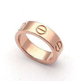 Wholesale Fine Gold Rings - Fashion jewerly stainless steel 18K rose gold plated carter screw love Ring For Women man wedding Ring 18K Gold plated Fine jewelry