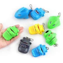 Wholesale Charms Crocodiles - Crocodile Dentist Toys Funny Family Game Cartoon Style Key Chain Charms Big Mouth Bite Fingers Tooth Toy High Quality 2 38hb Z