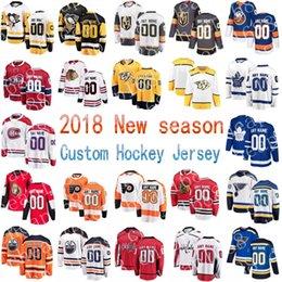 Wholesale Purple Flyer - Custom 2018 New season Chicago Blackhawks Toronto Maple Leafs Philadelphia Flyers St. Louis Blues any name number Stitched Hockey Jerseys