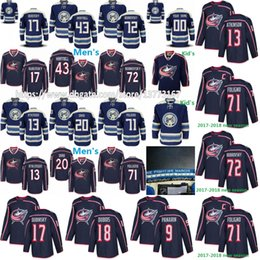 Wholesale Red Mens Jackets - Mens Kids Columbus Blue Jackets 13 Cam Atkinson Brandon Saad Sergei Bobrovsky Nick Foligno 17 Brandon Dubinsky Scott Hartnell Hockey Jerseys