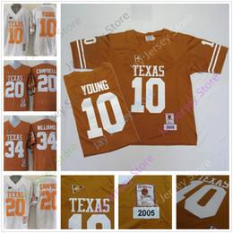 texas longhorns jerseys Rebajas Fútbol americano universitario Texas Longhorns Jerseys 10 Vince Young 12 McCoy 20 Earl Campbell 34 Jersey Connor Williams