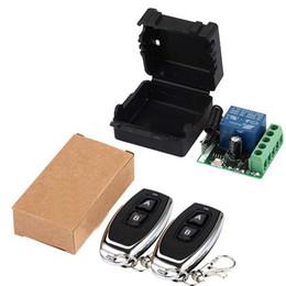 drahtlose fernbedienung empfänger relais-modul Rabatt 33 Mhz Universal Funkfernbedienung Schalter DC 12V 1CH Relais Empfänger 1x Modul RF Sender 433 Mhz mit 2x Fernbedienungen