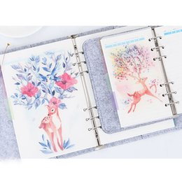 organizador a6 Rebajas Para A5 A6 Anillos en espiral Elk Deer Loose Leaf Page Planner Notebook Organizer Sketchbook Elástico transparente PP Separator