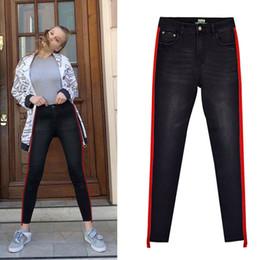 8ce83f6a5c38 2019 grand jean femme Pantalon à crayon irrégulier jeans noir à la taille  haute pour femmes