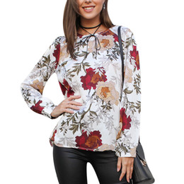 1028bbaace01 New Fashion Boho Summer Autumn Chiffon Blouses Floral Printed Women Blouse  Shirt Long Sleeve Tops Ladies Casual Blusas Feminina