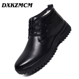 dress ankle boots for men Coupons - DXKZMCM Handmade Men Genuine Leather Winter Boots Wool Warm Snow Men Boots Ankle For Business Dress Shoes