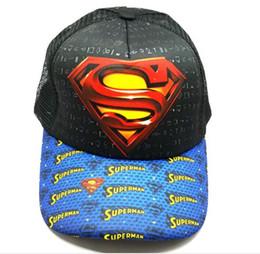 5pcs Supereroe superman mix ragazzo ragazza Moda Sun Hat Mesh cap Casual Cosplay berretto da baseball regali K1 da cappello superman delle ragazze fornitori